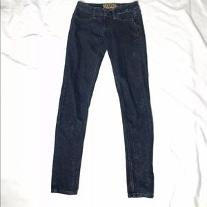 Tripp Nyc Distressed Skinny Jeans Dark Wash Size S
